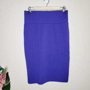 Lularoe Purple Textured Cassie Pencil Skirt